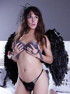 Smoking hot Nikki posing as an angel