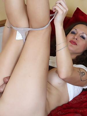Gorgeous Tgirl Nikki stripping and posing